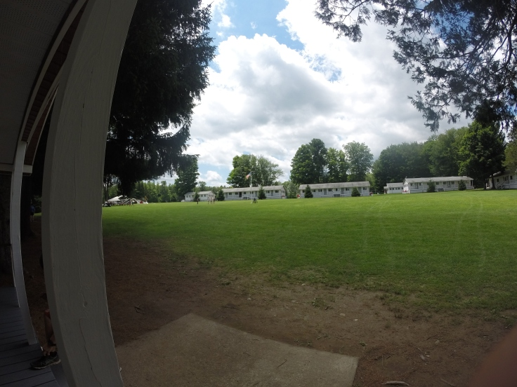 View of the camp Cayuga quad from cabin B6 at cam