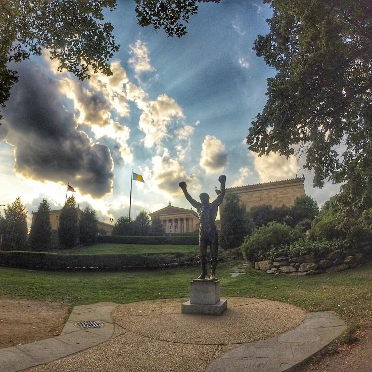 Rocky Statue in front of the Philadelphia Art Museum