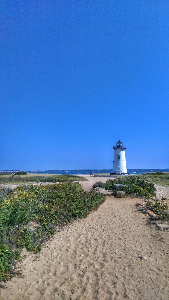 Edgartown Lighthouse, Martha's Vineyard on a sunny clear day