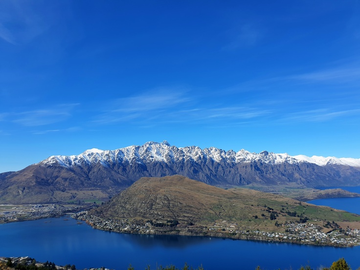 Remarkables Mountain Range as viewed from the top of Queenstown Hill
