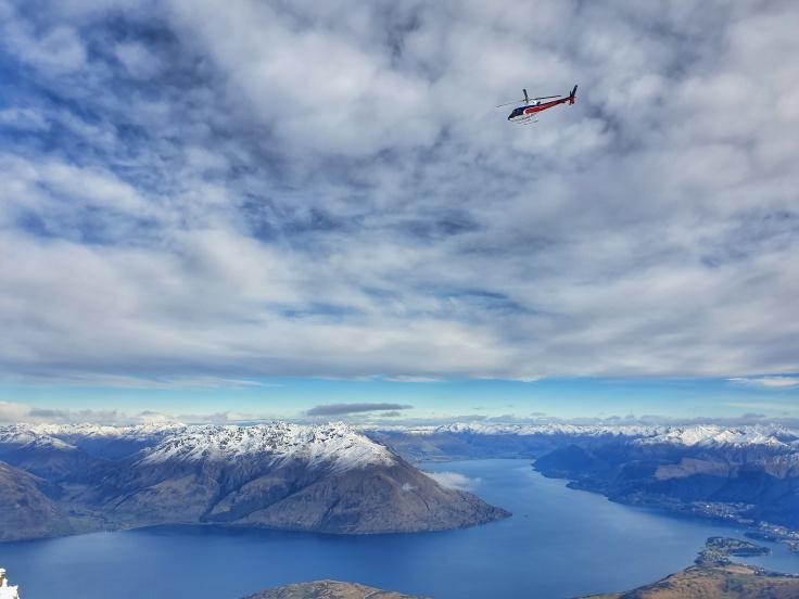 View of Lake Wakatipu from Remarkable Ski Field